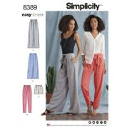 8389 Simplicity Pattern: Misses Trousers